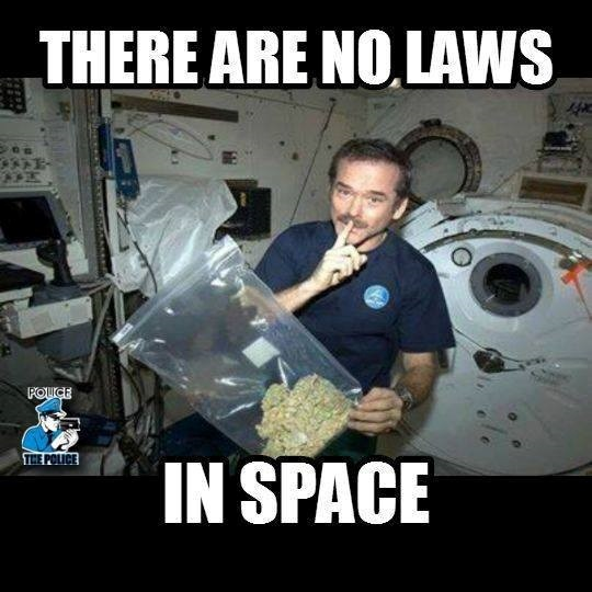 There are No Laws in Space, with Stealth Pants stash boxers